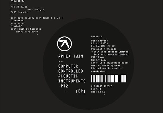 APHEX TWIN // COMPUTER CONTROLLED INSTRUMENTS PT2 // 23RD JANUARY 3