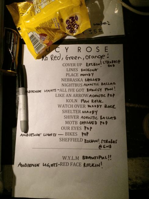 """Set List (and some mini-eggs!)"""
