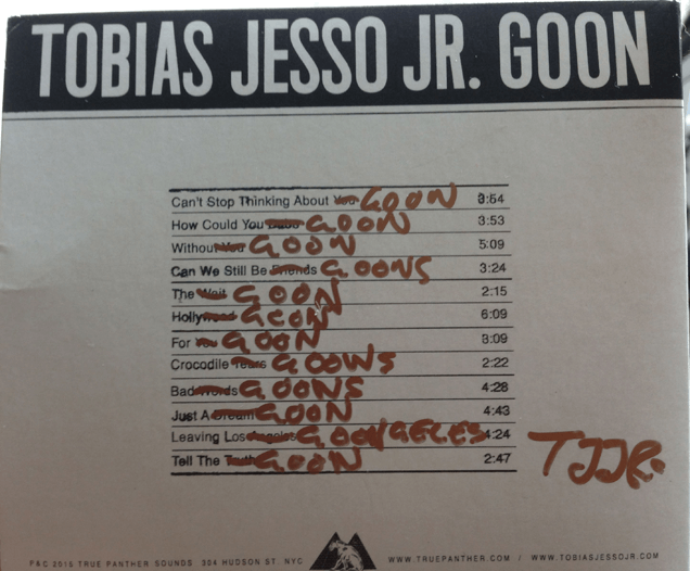"""Tobias Jesso Jr.'s debut LP Goon all """"Gooned up"""""""