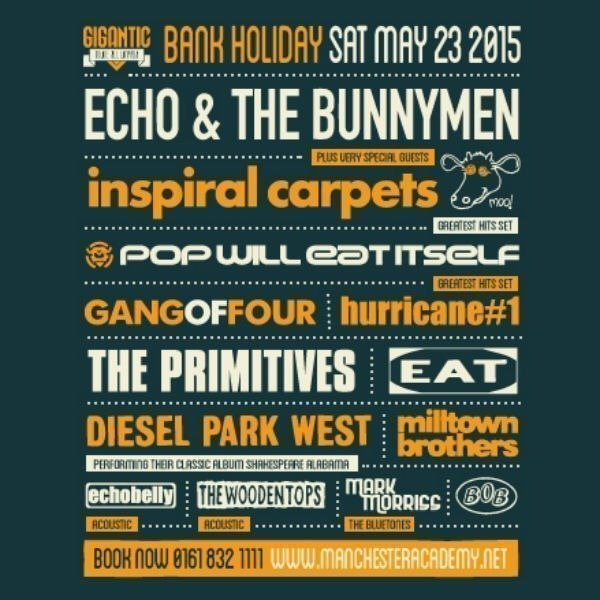 COUNTING DOWN TO THE... GIGANTIC INDIE ALL DAYER VOL.2 SATURDAY 23rd MAY 2015