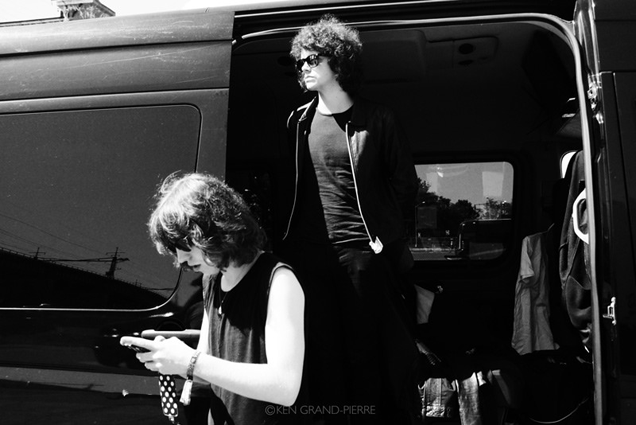 band in a van