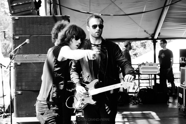 Billy Bibby and Van McCann before their set at Governors Ball 2014, photo © Ken Grand-Pierre