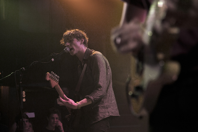 Joe Falconer performs on lead guitar and backing vocals
