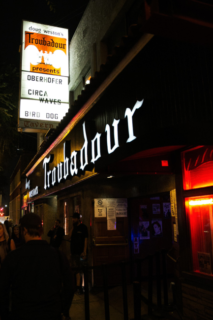 Circa Waves graces The Troubadour marquee in Los Angeles