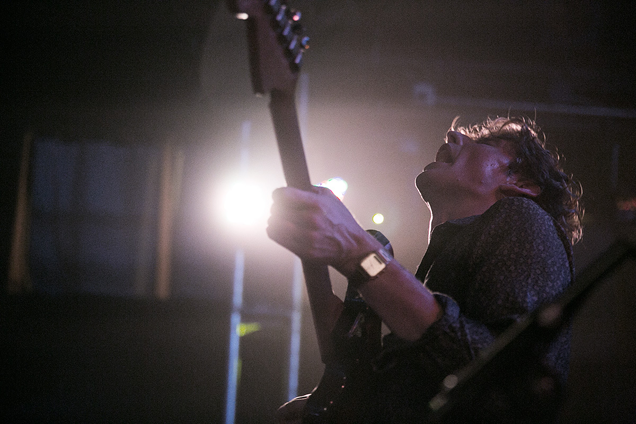 Lead guitar Joe Falconer lost in the moment