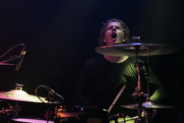 Drummer Colin Jones delivers a spirited set at the kit