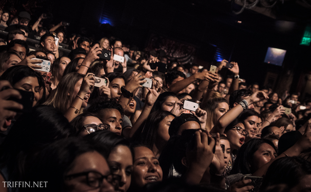An enthusiastic crowd for the band at House of Blues, Anaheim