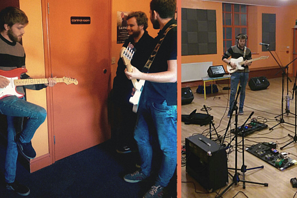 Rob Jones, Michael Pearce and Matt Thomas at Orange Sound