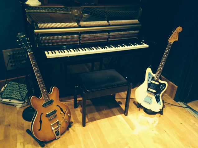 the piano and guitars from Stanley House.