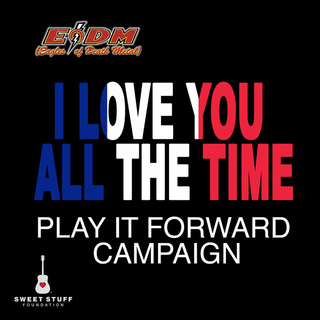 """Eagles Of Death Metal has announced the release of the third round of the Play It Forward EODM Campaign that debuted December 18, 2015 with its first helping of covers of """"I Love You All The Time"""" from the band's current album Zipper Down."""