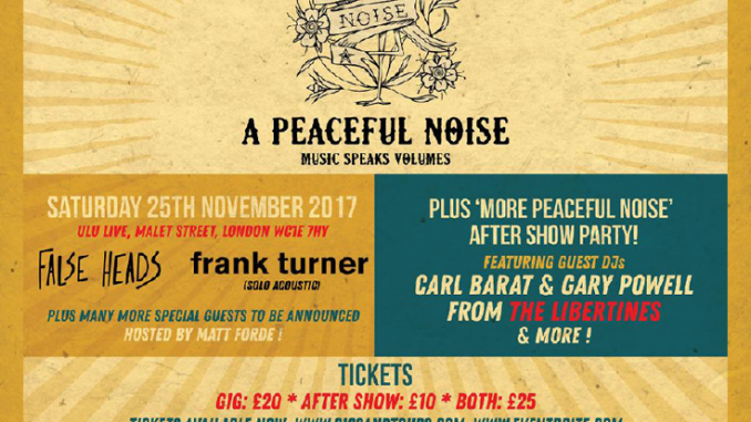 LIVE REVIEW: A Peaceful Noise @ ULU 25th November 2017
