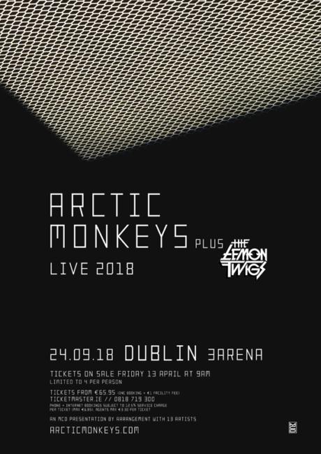 ARCTIC MONKEYS announce Dublin 3ARENA date Arctic Monkeys