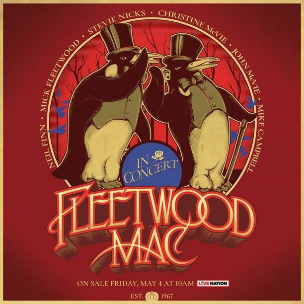 FLEETWOOD MAC Announce RDS ARENA Date for European Tour 1