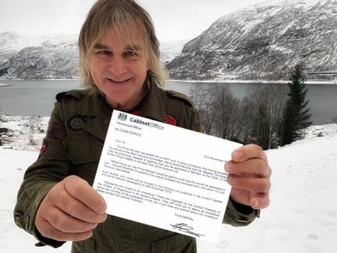 The Alarm frontman Mike Peters awarded MBE for services to charity