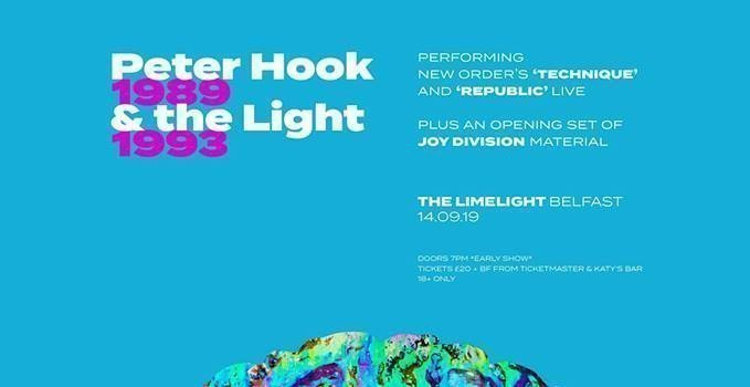 """Peter Hook & The Light bring their """"Technique & Republic Tour to Belfast Limelight, Saturday 14th September 2019"""
