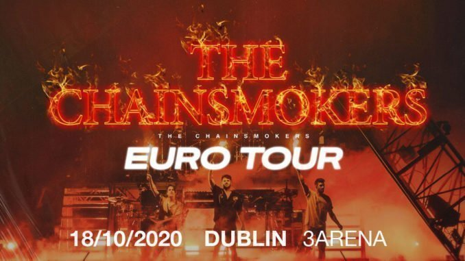THE CHAINSMOKERS announce 3Arena, Dublin show on Sunday October 18th 2020