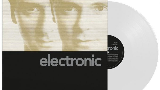 'Electronic' by ELECTRONIC is to be reissued as a limited edition white vinyl on 24 January 2
