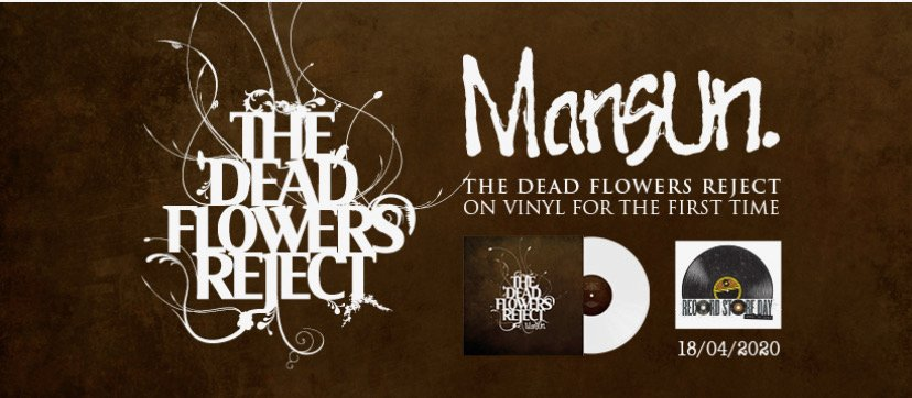 British legends MANSUN'S, album THE DEAD FLOWERS REJECT to be released on Vinyl for UK RECORD STORE DAY 2