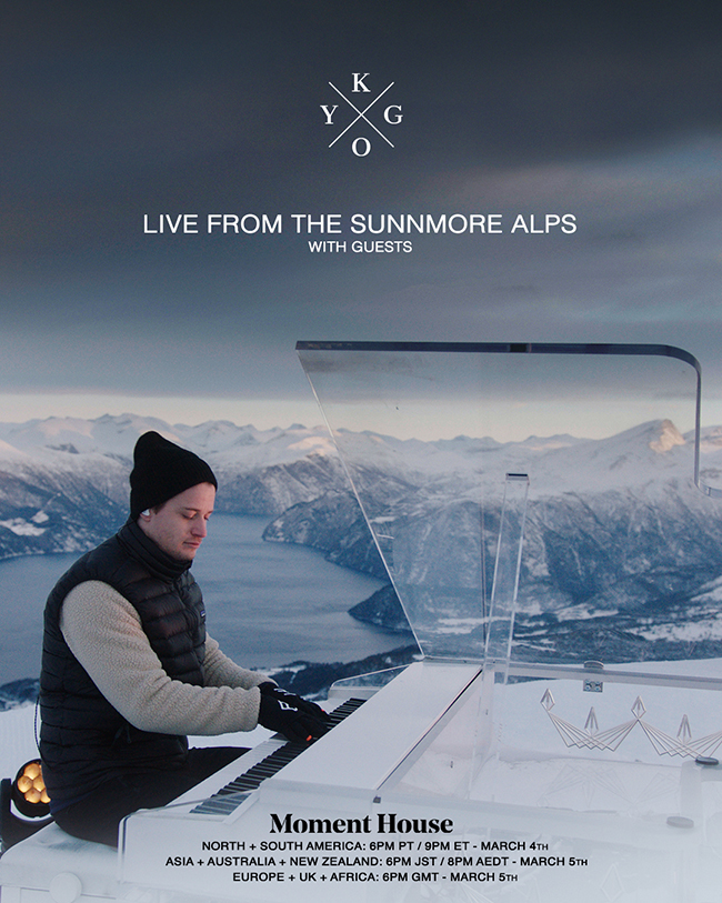 Kygo set to perform atop Sunnmøre Alps in NorwayKygo Momenthouse 1