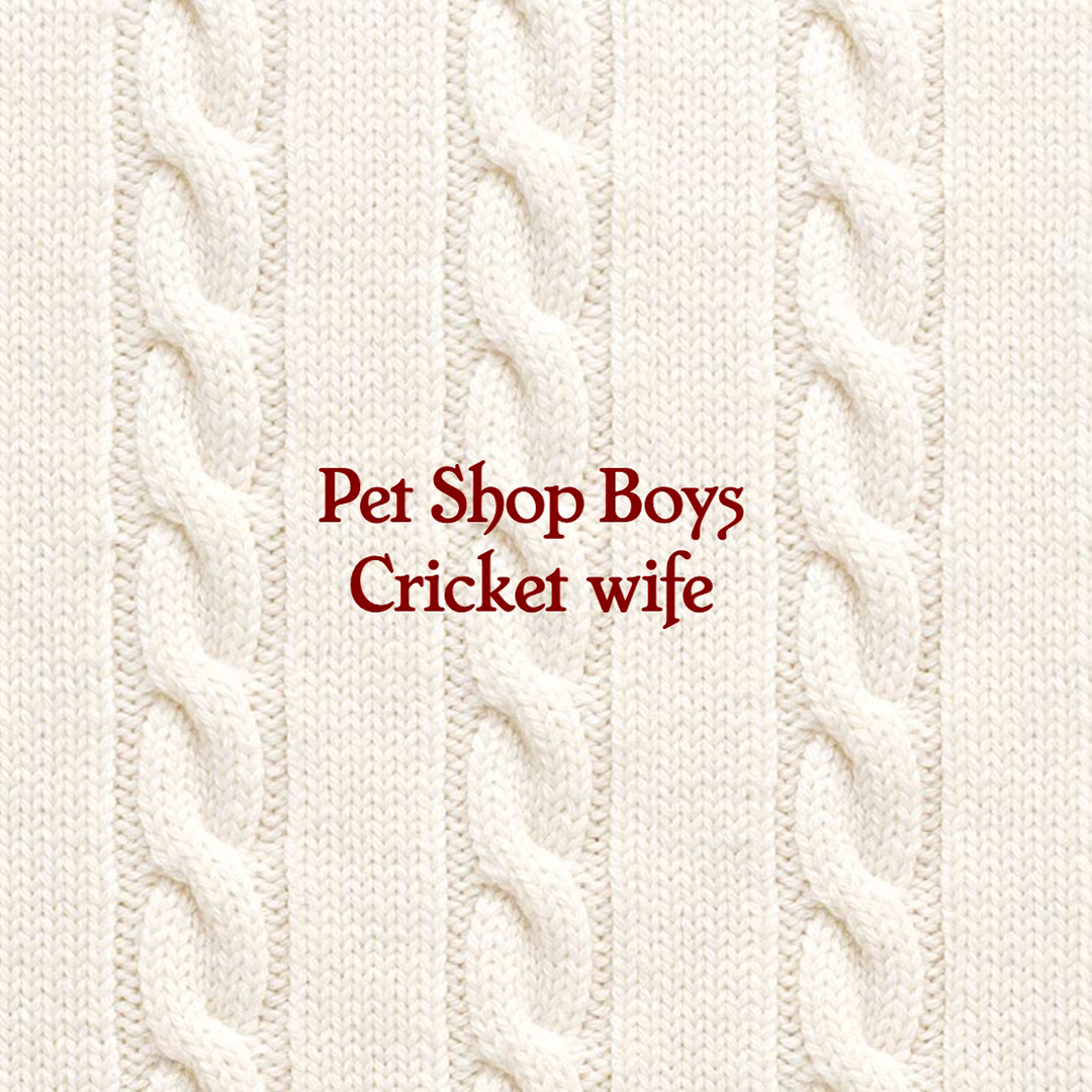 PET SHOP BOYS announce the release of their brand new track 'Cricket Wife' on May 7th 2