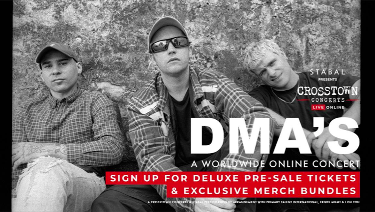 DMA'S announce special worldwide show